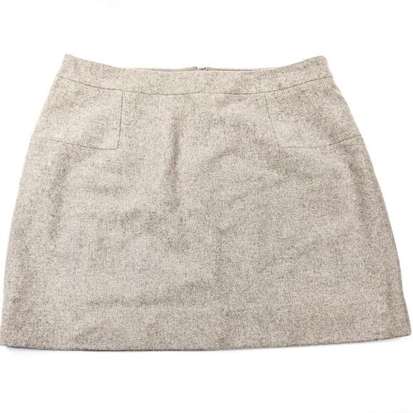 3bfc803c878f14 J. Crew Skirts | Jcrew Double Serge Wool Blend Mini Skirt Tan | Poshmark